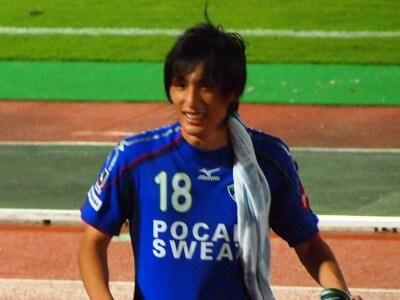 試合終了後の佐藤選手。